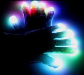 Black LED Light Glove